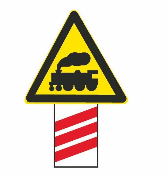 这个标志是何含义?A、距有人看守铁路道口150米B、距无人看守铁路道口150米C、距无人看守铁路道口100米D、距有人看守铁路道口100米答案是B