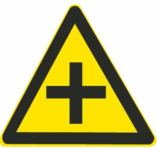 這個標志是何含義?A、T型交叉路口B、Y型交叉路口C、十字交叉路口D、環行交叉路口答案是C
