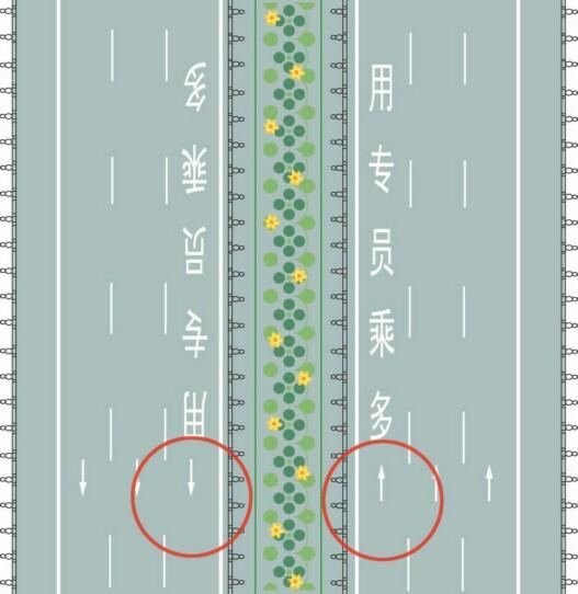 道路最左側白色虛線區域是何含義?A、多乘員車輛專用車道B、小型客車專用車道C、未載客出租車專用車道D、大型客車專用車道答案是A
