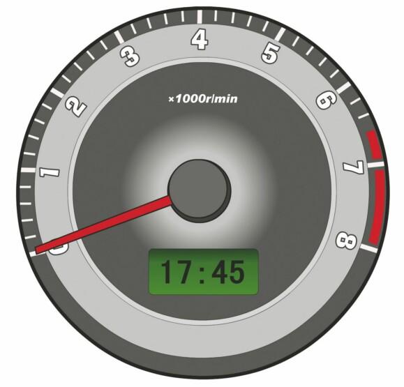 這個儀表是何含義?A、發動機轉速表B、行駛速度表C、區間里程表D、百公里油耗表答案是A