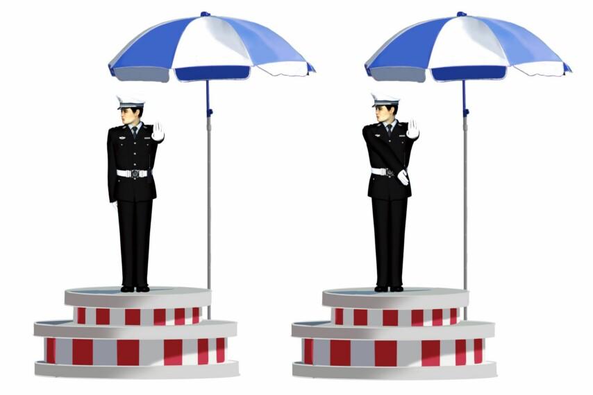 這一組交通警察手勢是什么信號?A、靠邊停車信號B、減速慢行信號C、停止信號D、右轉彎信號