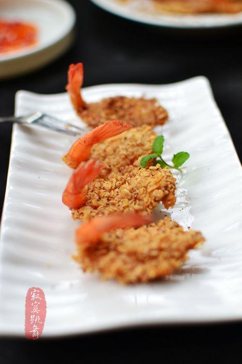 燕麦版【黄金蝴蝶虾】 - 慢美食 - 慢 美 食