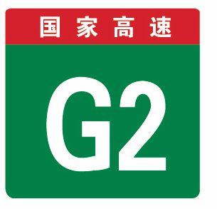 這個標志是何含義?A、高速公路界牌編號B、高速公路里程編號C、高速公路命名編號D、高速公路路段編號答案是C