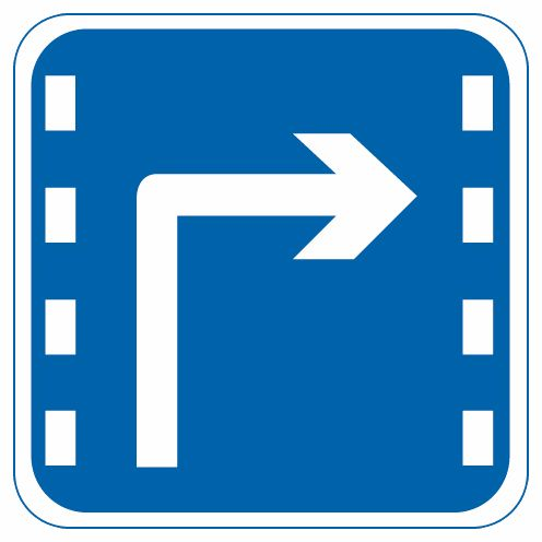 这个标志是何含义?A、分向车道B、右转车道C、掉头车道D、左转车道答案是B