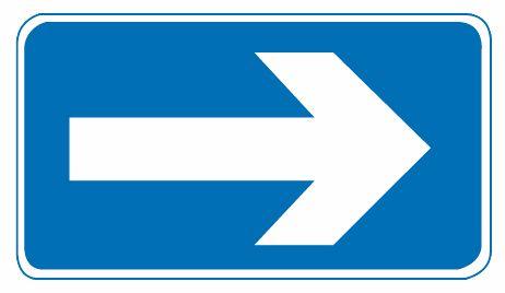 這個標志是何含義?A、向左單行路B、向右單行路C、直行單行路D、右轉讓行答案是B