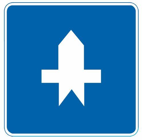 這個標志是何含義?A、單行路B、停車讓行C、干路先行D、兩側街道答案是C