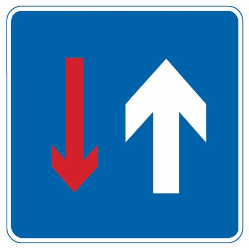 这个标志是何含义?A、对向先行B、停车让行C、单行路D、会车先行答案是D