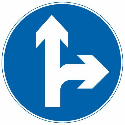 這個標志是何含義?A、直行和向右轉彎B、直行和向左轉彎C、禁止直行和向右轉彎D、只準向左和向右轉彎答案是A