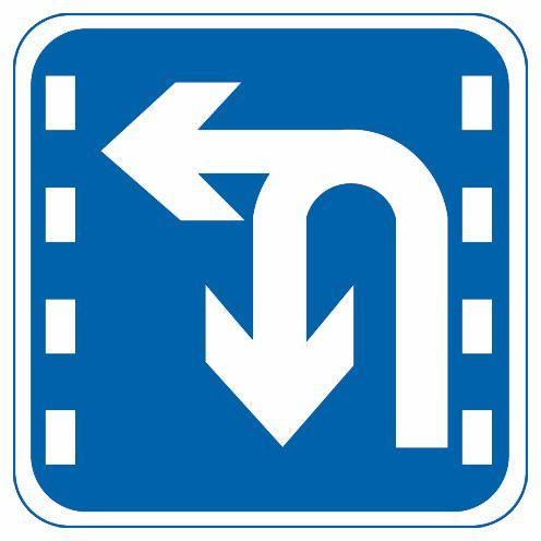 這個標志是何含義?A、直行和左轉合用車道B、禁止左轉和掉頭車道C、掉頭和左轉合用車道D、分向行駛車道答案是C