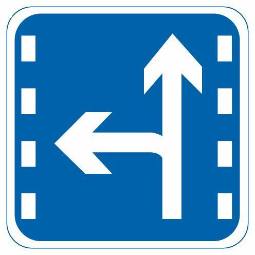 這個標志是何含義?A、直行和左轉合用車道B、直行和掉頭合用車道C、直行和右轉車道D、分向行駛車道答案是A
