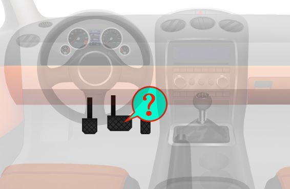 这是什么踏板?A、加速踏板B、离合器踏板C、制动踏板D、驻车制动器