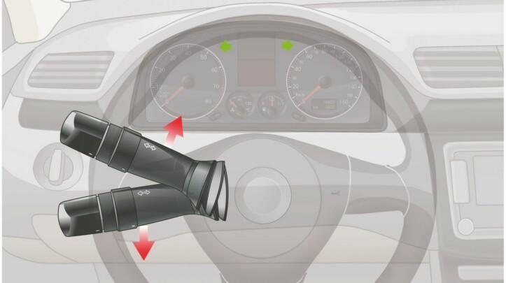 提拉這個開關控制機動車哪個部位?A、倒車燈B、左右轉向燈C、示廓燈D、報警閃光燈答案是B