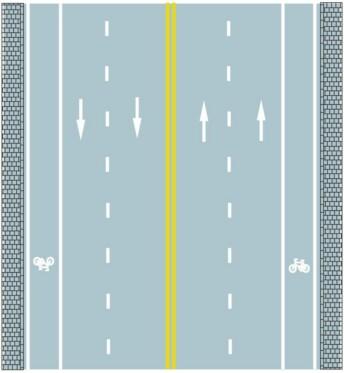路中心双黄实线是何含义?A、可跨越对向车道分界线B、禁止跨越对向车行道分界线C、双侧可跨越同向车道分界线D、单向行驶车道分界线答案是B