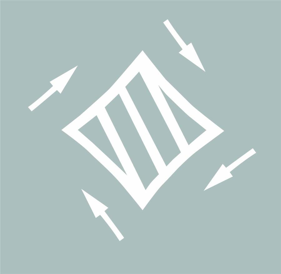 这个路面标记是什么标线?A、禁驶区B、网状线C、导流线D、中心圈