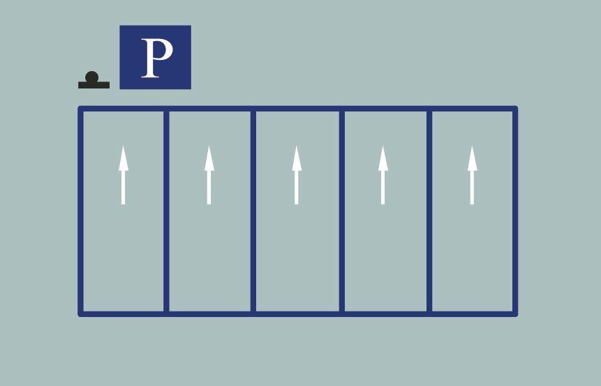 這種停車標線含義是什么?A、專用待客停車位B、專用上下客停車位C、固定停車方向停車位D、機動車限時停車位答案是C