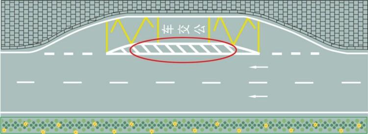 红色圆圈内标线含义是什么?A、临时停靠站B、大客车停靠站C、公交车停靠站D、应急停车带答案是C