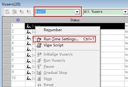 [转载]loadrunner<wbr>运行场景-运行时设置