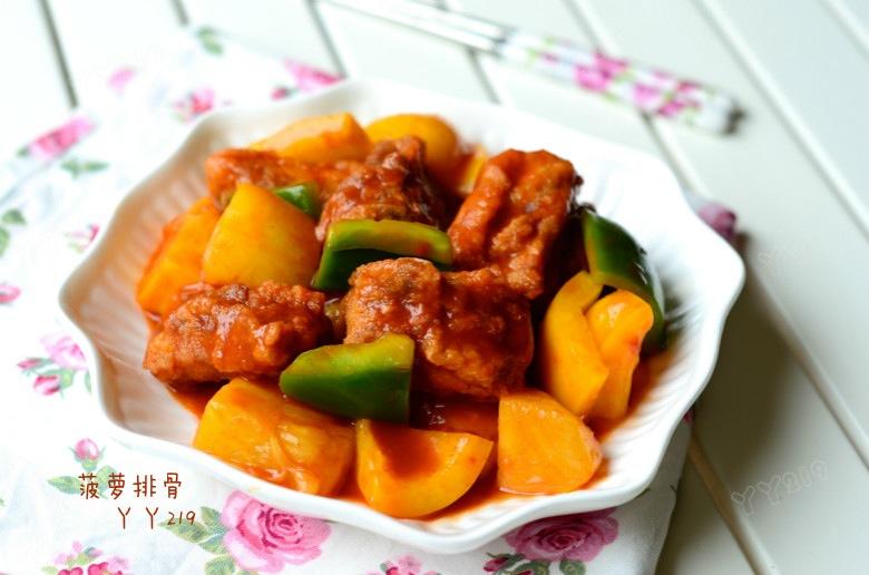 酸甜可口开胃菜——【菠萝排骨】 - 慢美食 - 慢 美 食