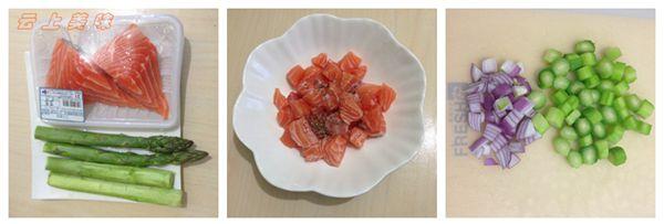 三文鱼丁快炒鲜芦笋营养鲜美的汇合 - 慢美食 - 慢 美 食