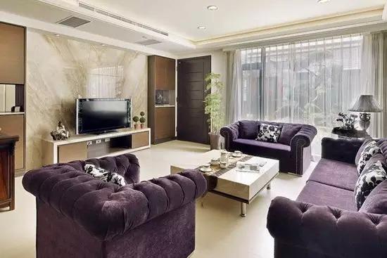 客厅瓷砖电视背景墙效果图4