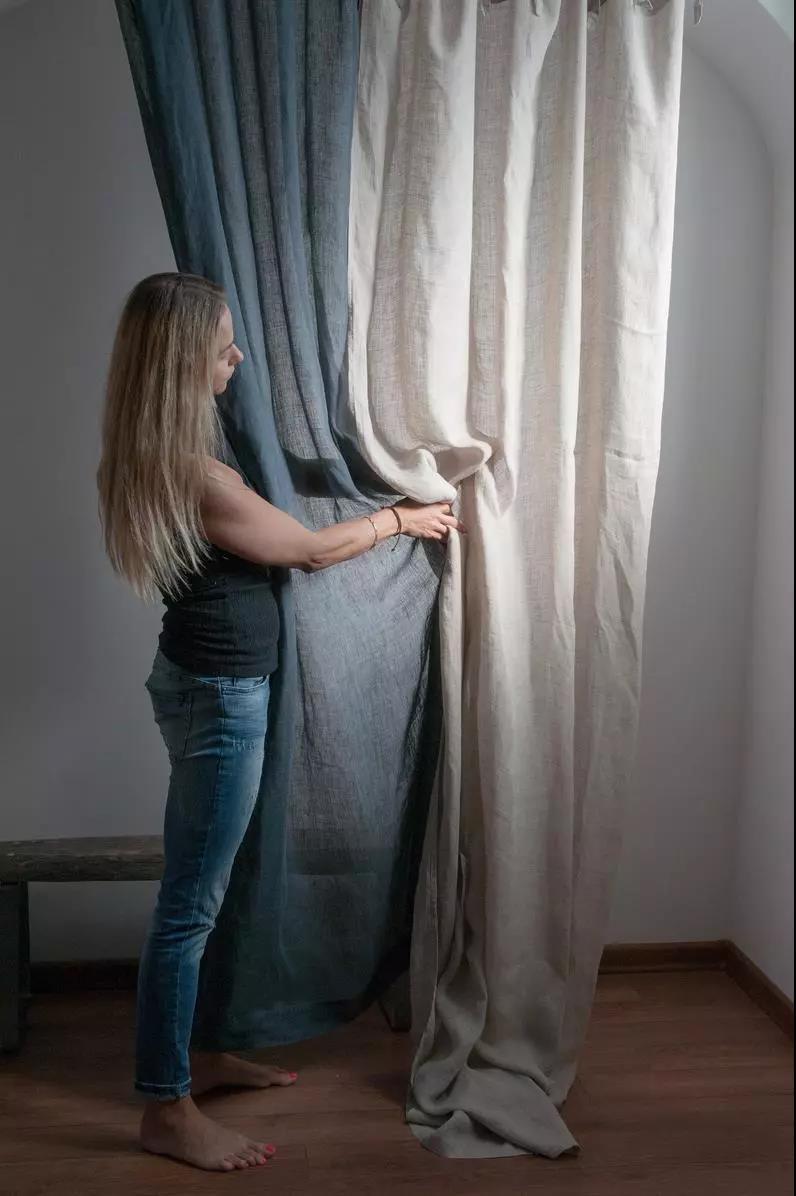 新申亚麻大师|亚麻窗帘保养的好,满屋都是春天的味道!