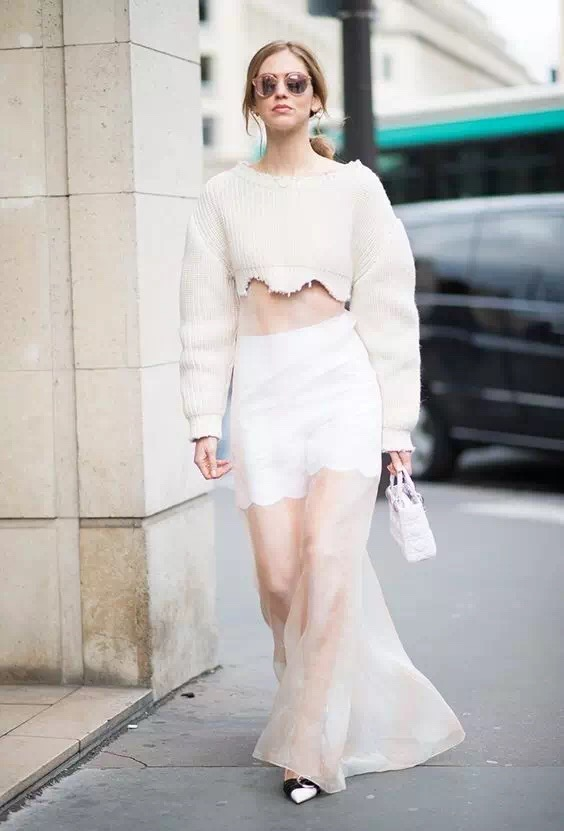 "小露怡情|听说最近流行""无码""出街? - AvaFoo - Avas Fashion Blog"