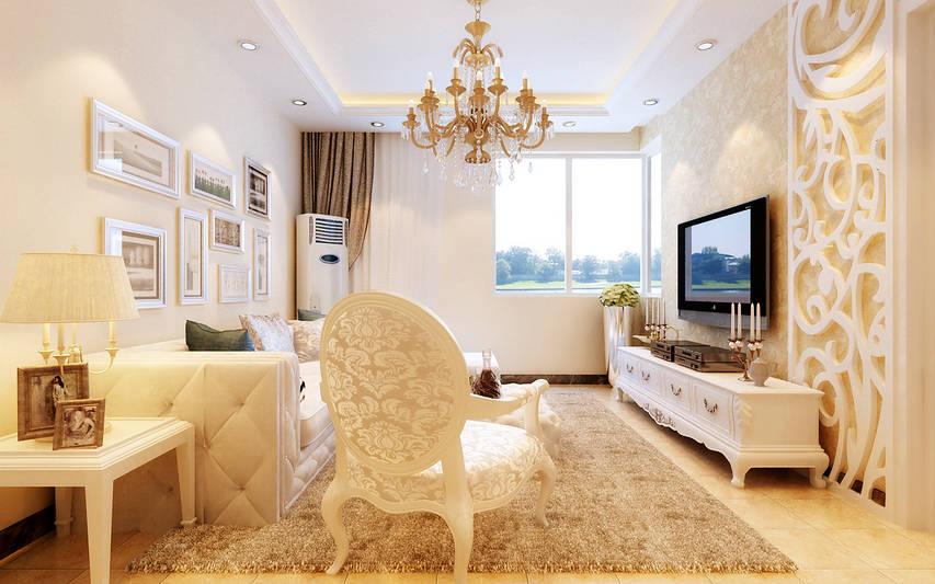 90㎡   案例户型:3室2厅1卫   装修风格:简约欧式   设计单高清图片
