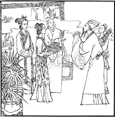 神仙古装女人简笔画