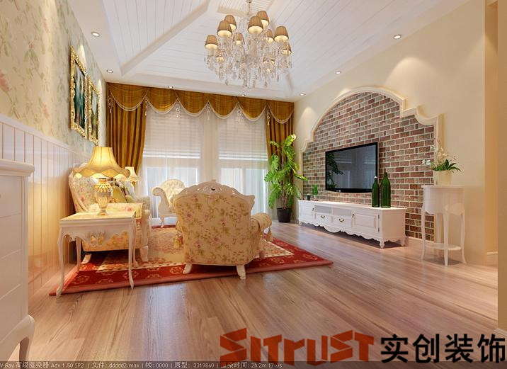 新城区阳光诺卡271平五居室别墅混搭装修风格