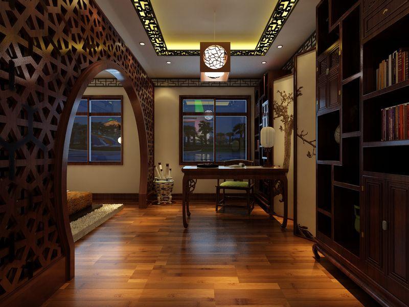 元洲装饰152平中式风格装修样板间装修案例 高清图片