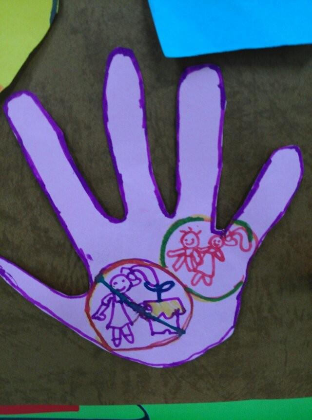 主题班会《手不是用来打人的》 - 小小胡杨 - 小小胡杨班