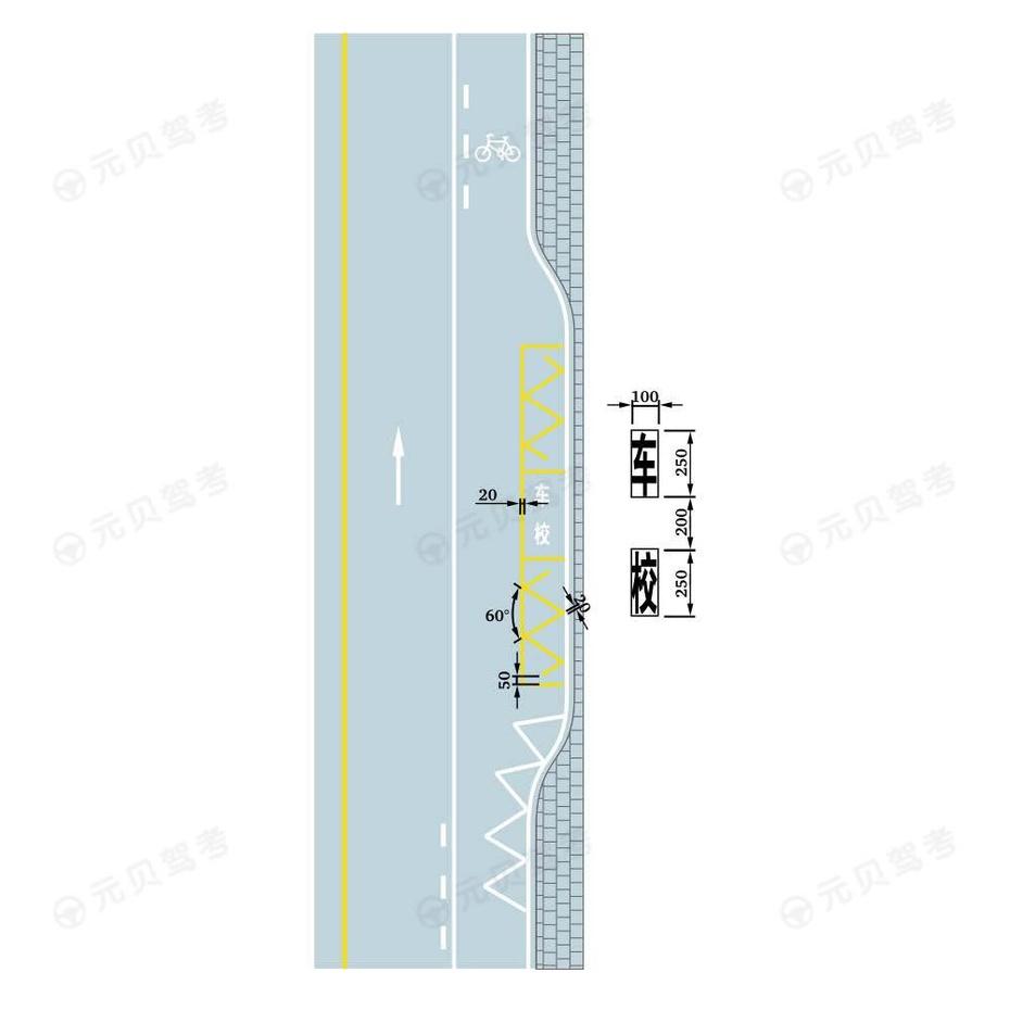北京陪驾_提示前方道路有左弯或需向左合流_指示标线_2021年交通标志标线
