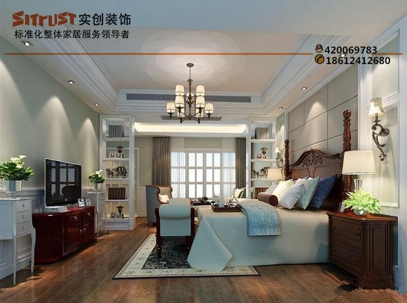 【碧桂园】别墅装修180平美式风格效果图|实创装饰完美家装