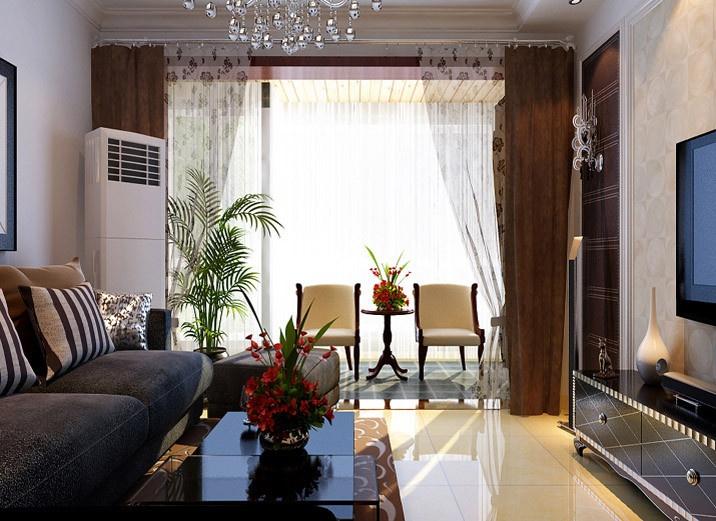 清河宝盛里小区135平米客厅装修效果图