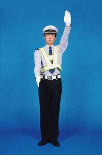 示意車輛靠邊停車信號示意:車輛靠邊停車