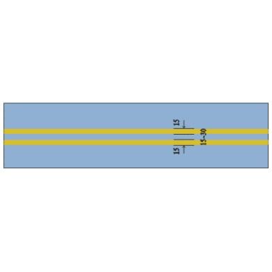 中心黄色双实线