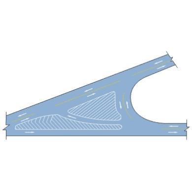Y形路口导流线