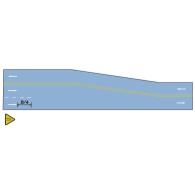 三車道縮減為雙車道