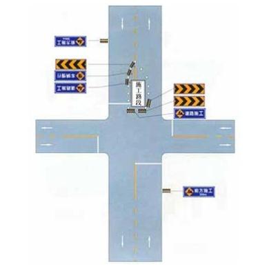 市區道路交叉口中心線附近施工