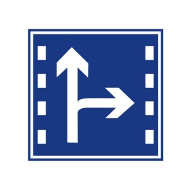 直行和右轉合用車道