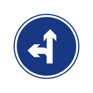 直行和向左轉彎