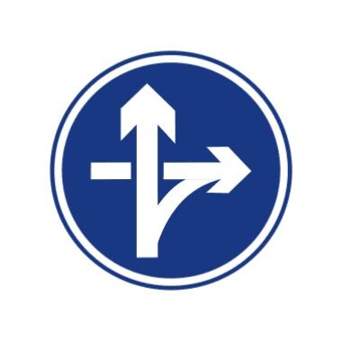立交直行和右轉彎行駛