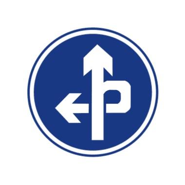立交直行和左轉彎行駛