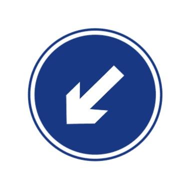 靠左侧道路行驶表示只准一切车辆靠左侧道路行驶。此标志设在车辆必须靠左侧行驶的路口以前适当位置。