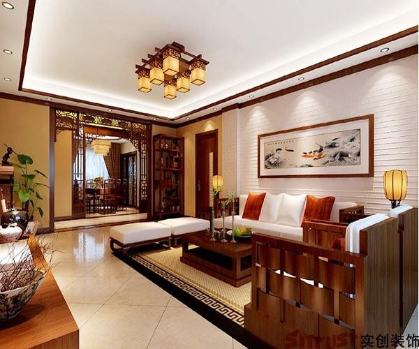 實創裝飾-舜奧華府165平米-中式風格經典平層裝修