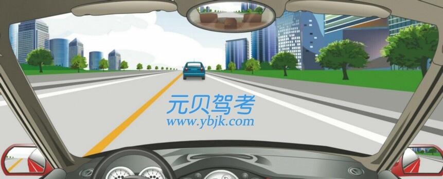 在这条城市道路上行驶的最高速度不能超过多少?A、30公里/小时B、40公里/小时C、50公里/小时D、70公里/小时