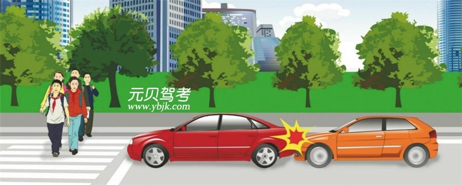 這兩輛車發生追尾的主要原因是什么?A、后車未與前車保持安全距離B、后車超車時距離前車太近C、前車采取制動過急D、前車采取制動時沒看后視鏡答案是A