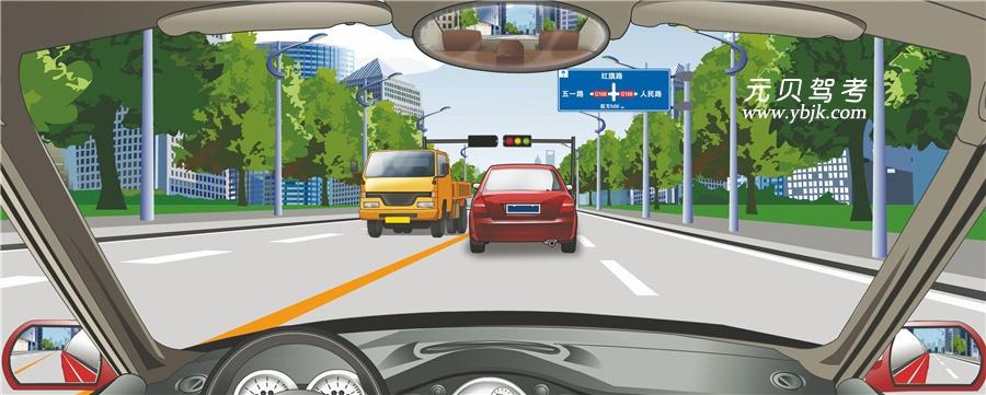 前方标志告知前方道路各行其道的信息。答案是错