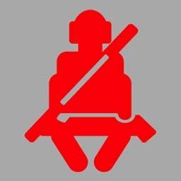 机动车仪表板上(如图所示)亮时,提醒驾驶人座椅没调整好。答案是错