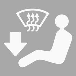 機動車儀表板上(如圖所示)亮表示啟用地板及前風窗玻璃吹風。答案是對